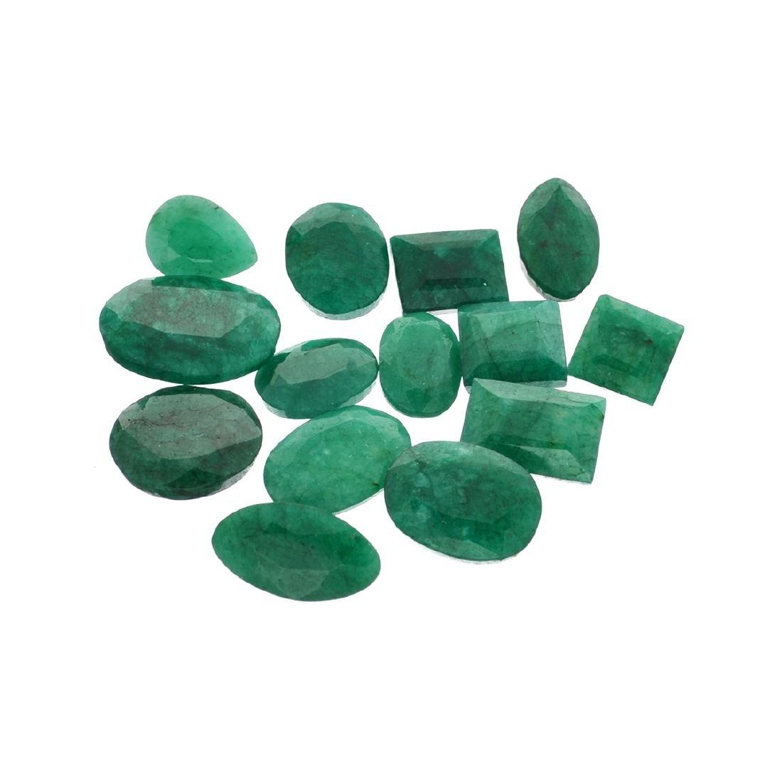 APP: 7.5k 100.25CT Various Shapes Green Emeral Parcel-