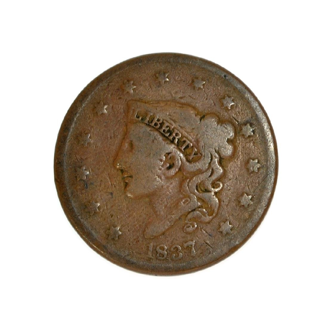 Rare 1837 Large Cent Coin
