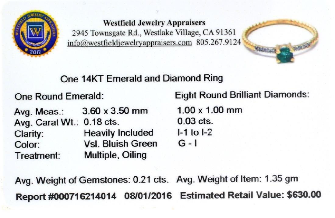 APP: 0.6k Fine Jewelry 14KT Gold, 0.21CT Round Cut - 2