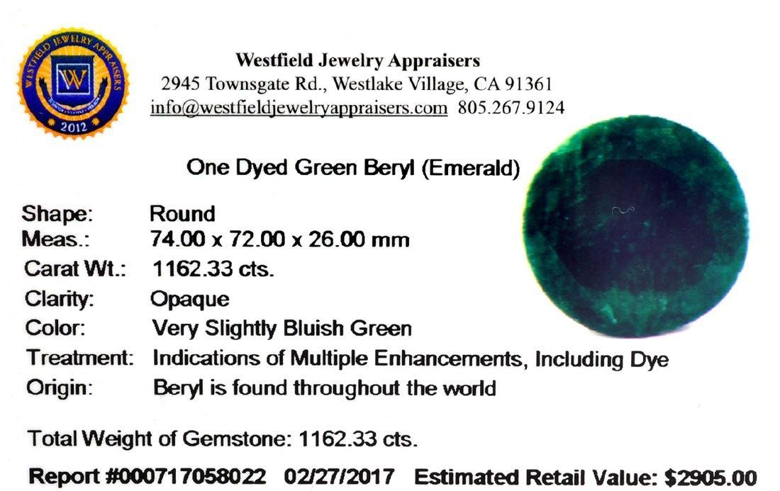 APP: 2.9k Very Rare Large Beryl Emerald 1,162.33CT - 3