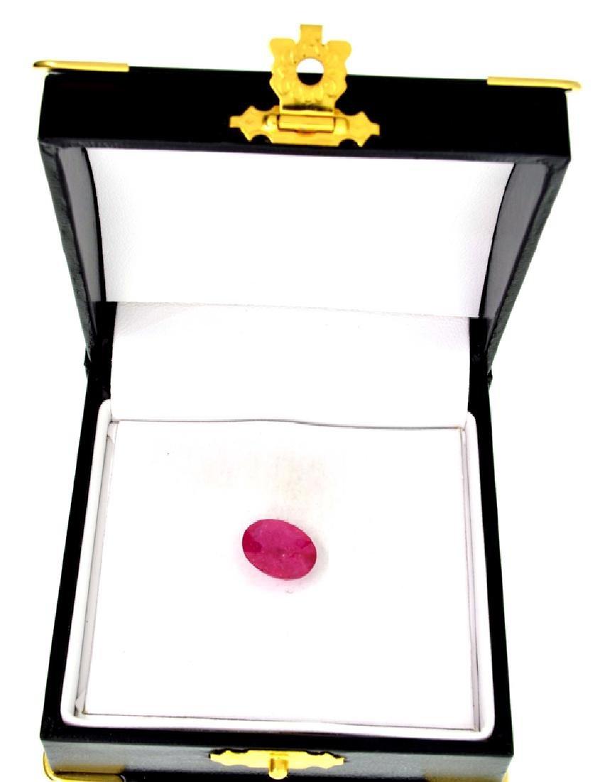 APP: 5.4k 5.97CT Oval Cut Ruby Gemstone