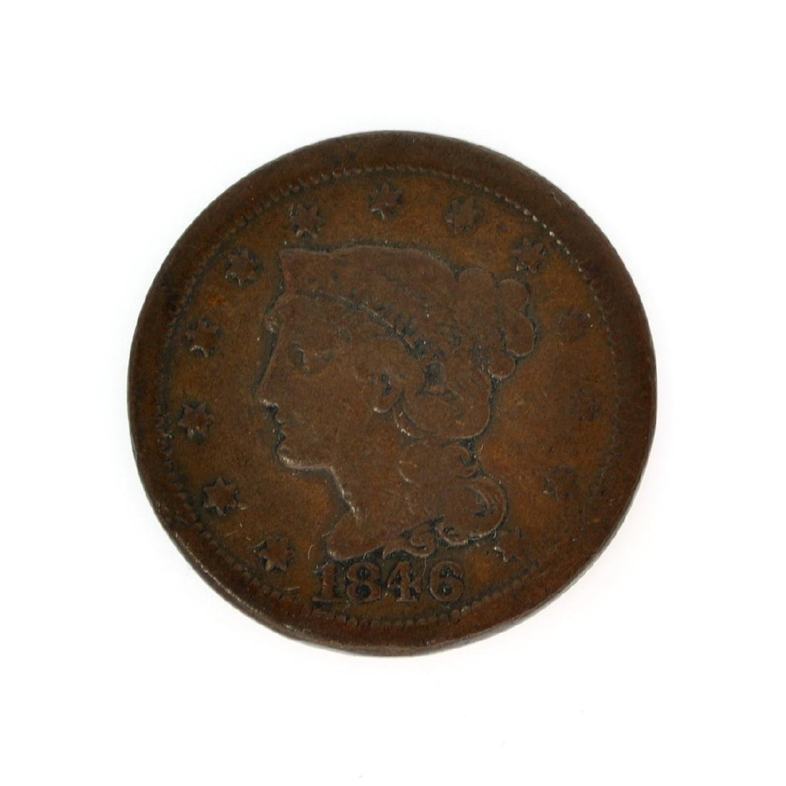 Rare 1846 Large Cent Coin