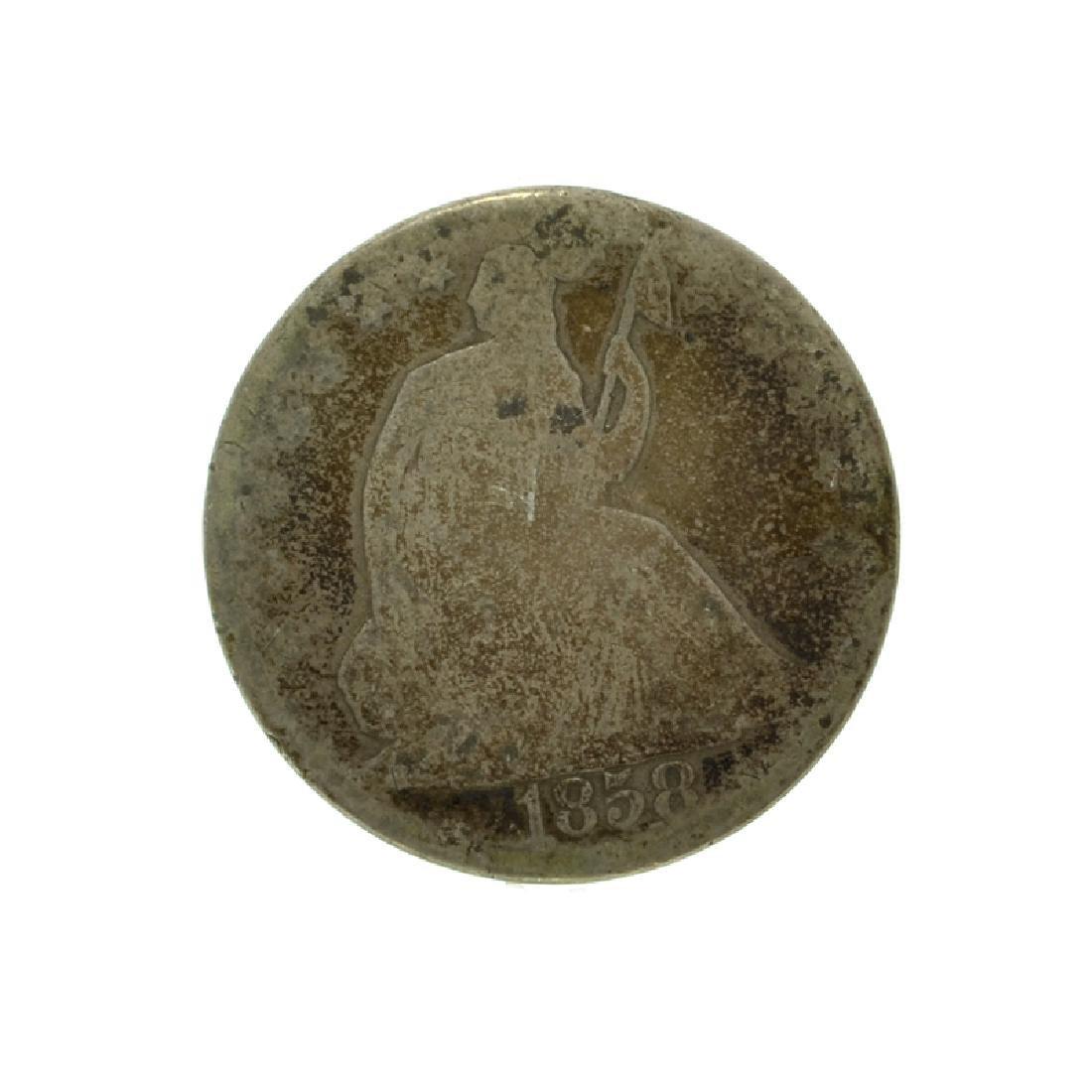 1858-O Liberty Seated Half Dollar Coin