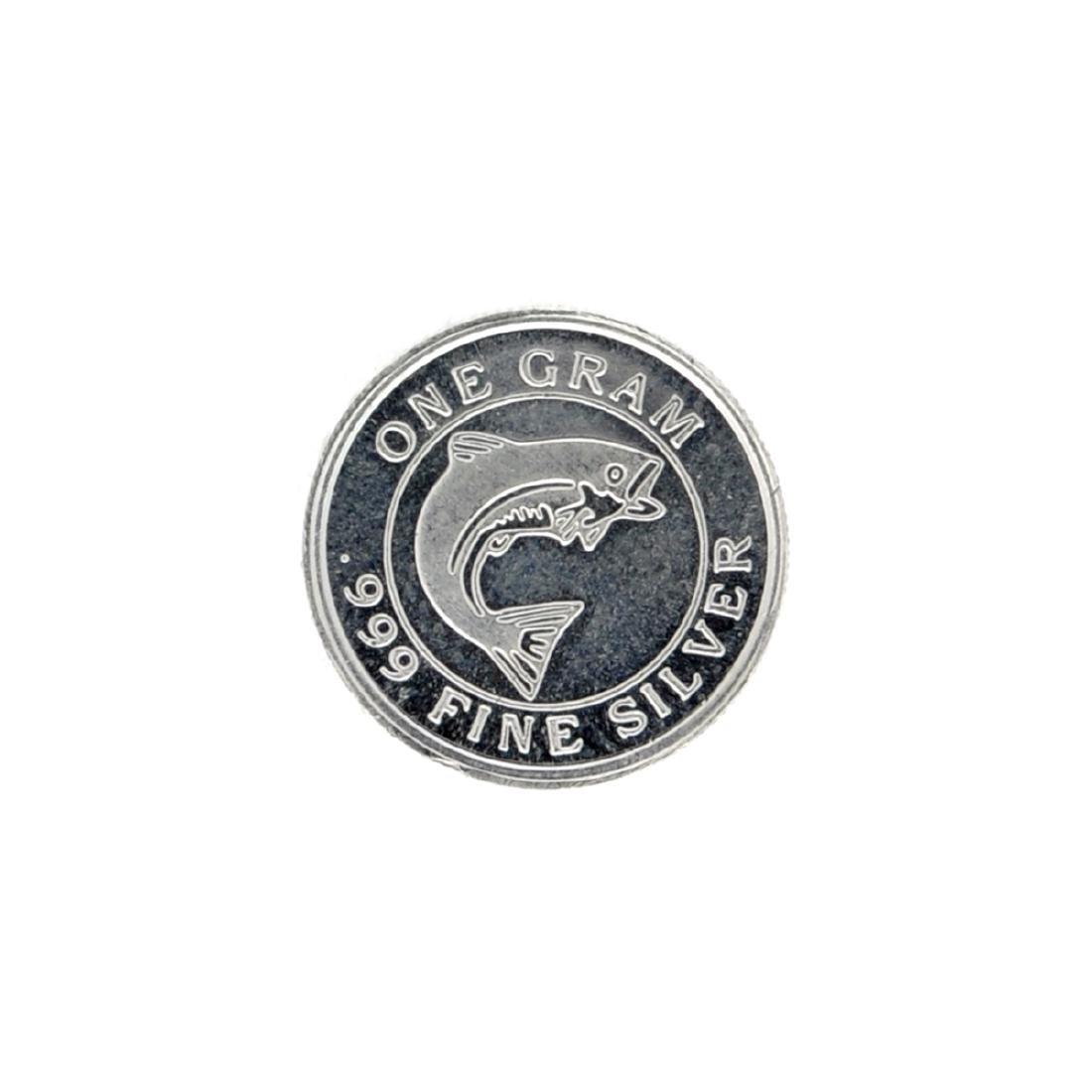Beatiful 1 gram .999 Fine ''Salmon'' Silver Round Coin