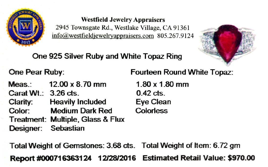 APP: 1k Fine Jewelry Designer Sebastian, 3.68CT Ruby - 2