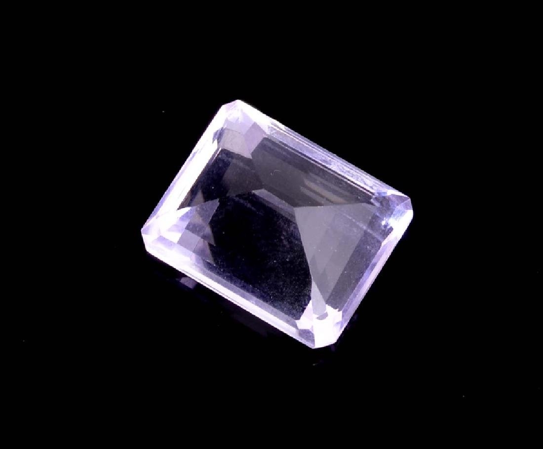 APP: 0.7k 22.00CT Emerald Cut Amethyst Quartz Gemstone - 2