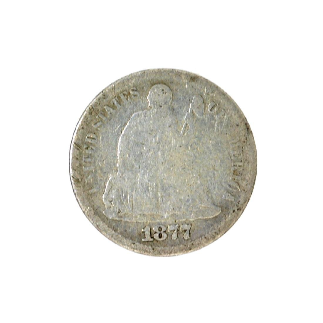 1877-S Liberty Seated Dime Coin