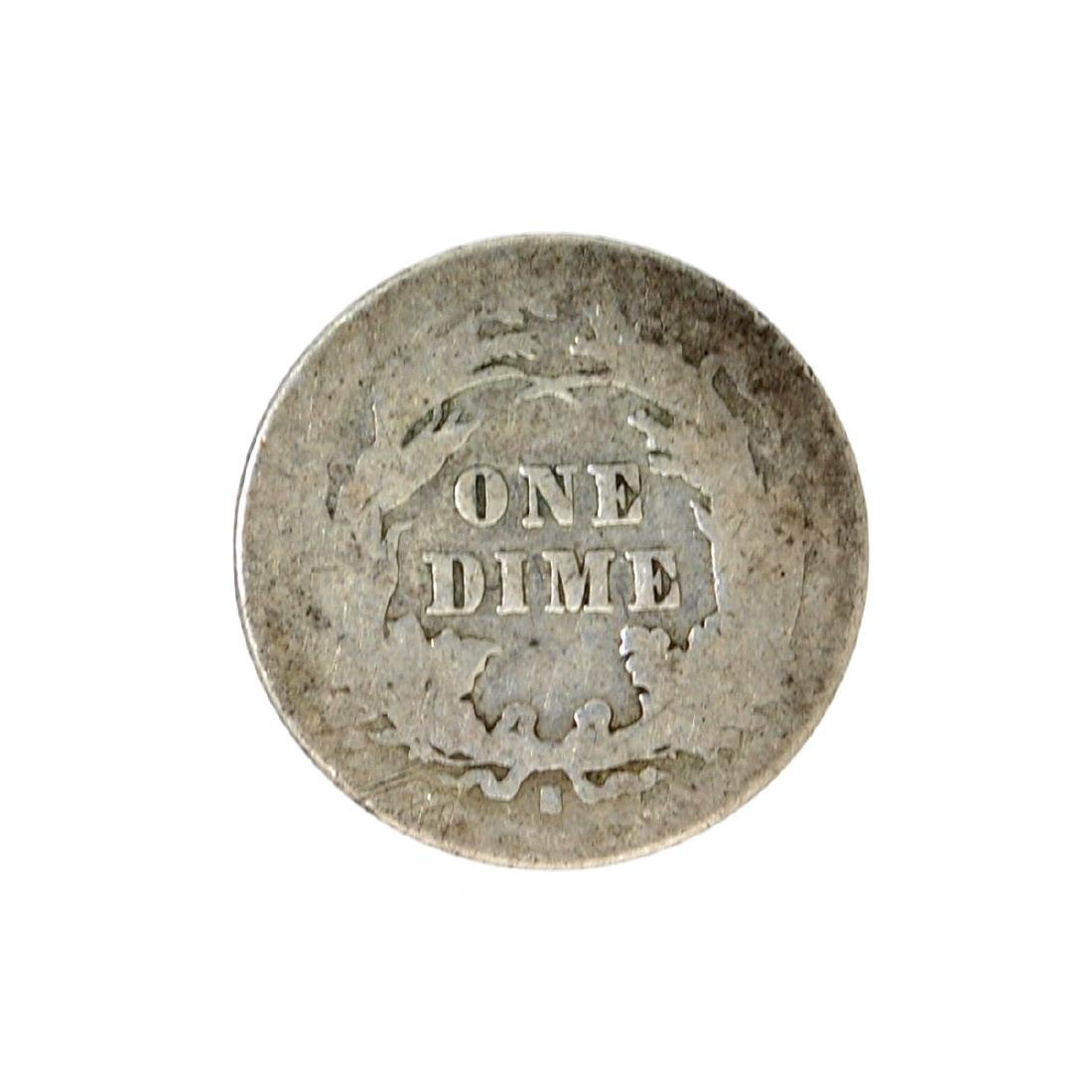 1877-S Liberty Seated Dime Coin - 2