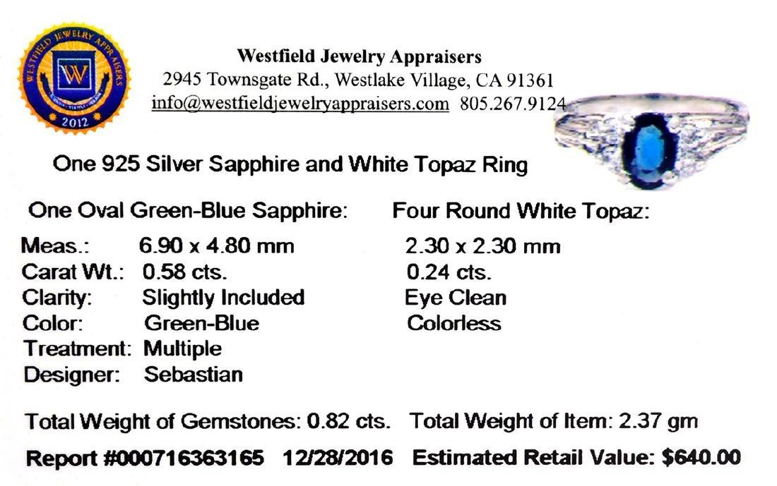 APP: 0.6k Fine Jewelry Designer Sebastian, 0.82CT Blue - 2