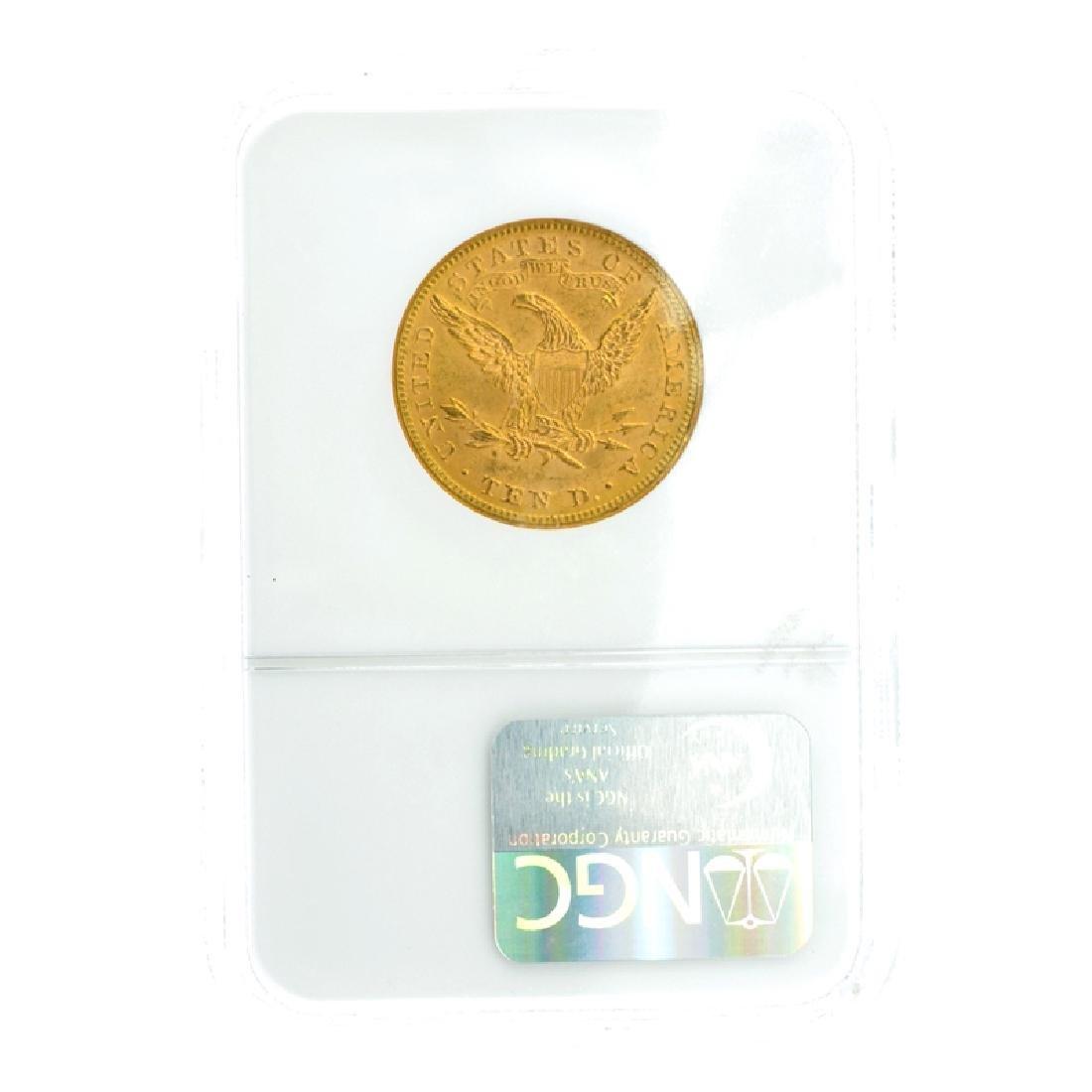 *1893 $10 U.S. MS 63  Liberty Head Gold Coin (DF) - 2