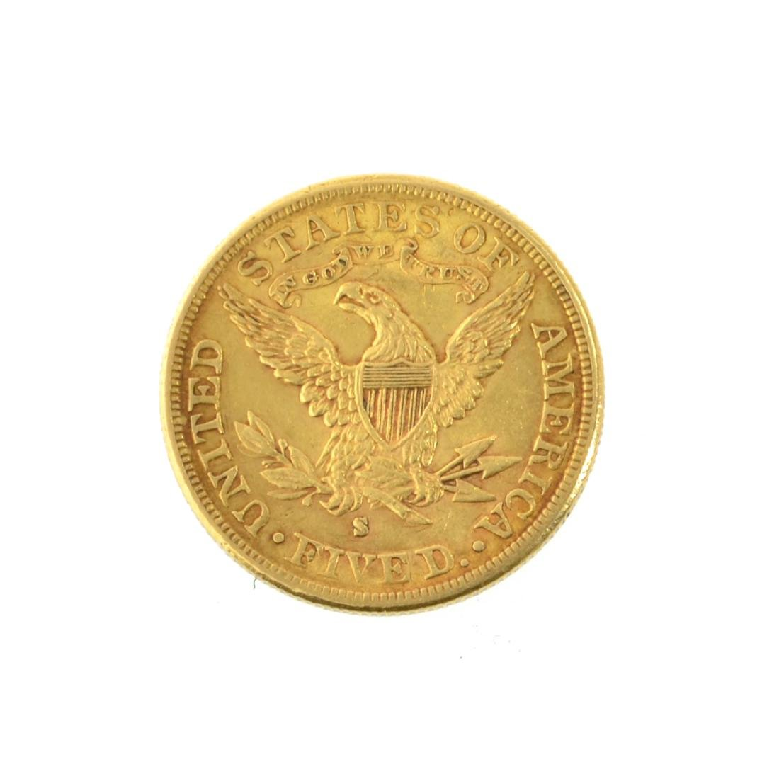 *1886-S $5 U.S. Liberty Head Gold Coin (PS-JWJ) - 2