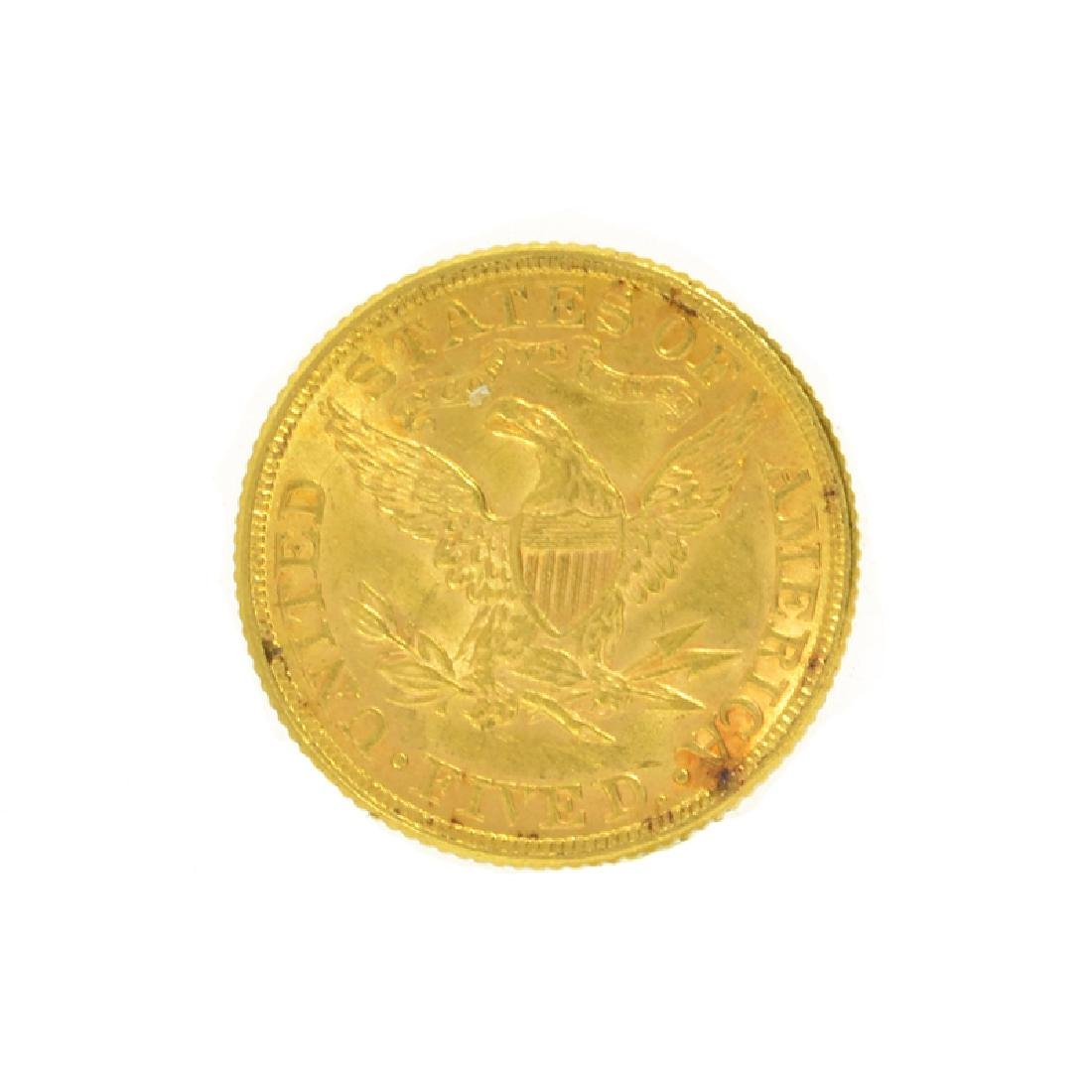 *1881 $5 U.S. Liberty Head Gold Coin (DF) - 2