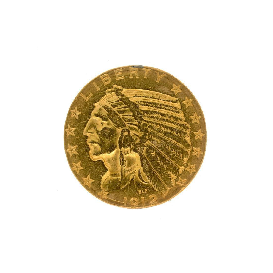 1912-S $5 U.S. Indian Head Gold Coin