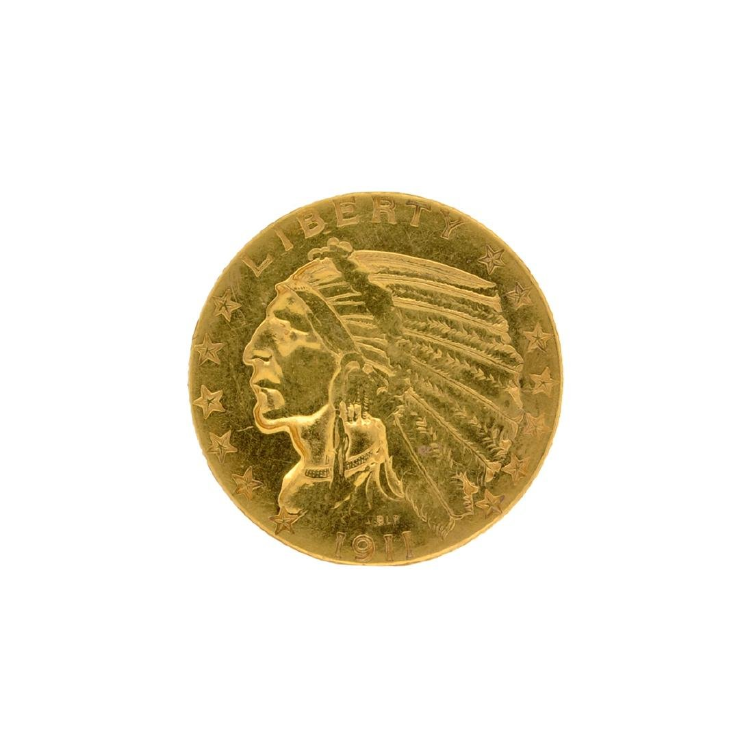 1911 $5 U.S. Indian Head Gold Coin
