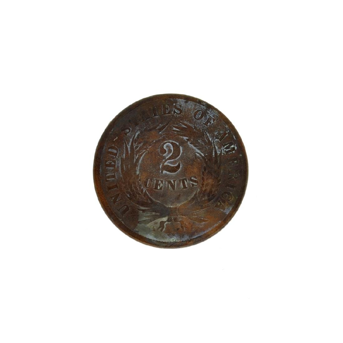 1865 Two Cent Coin - 2