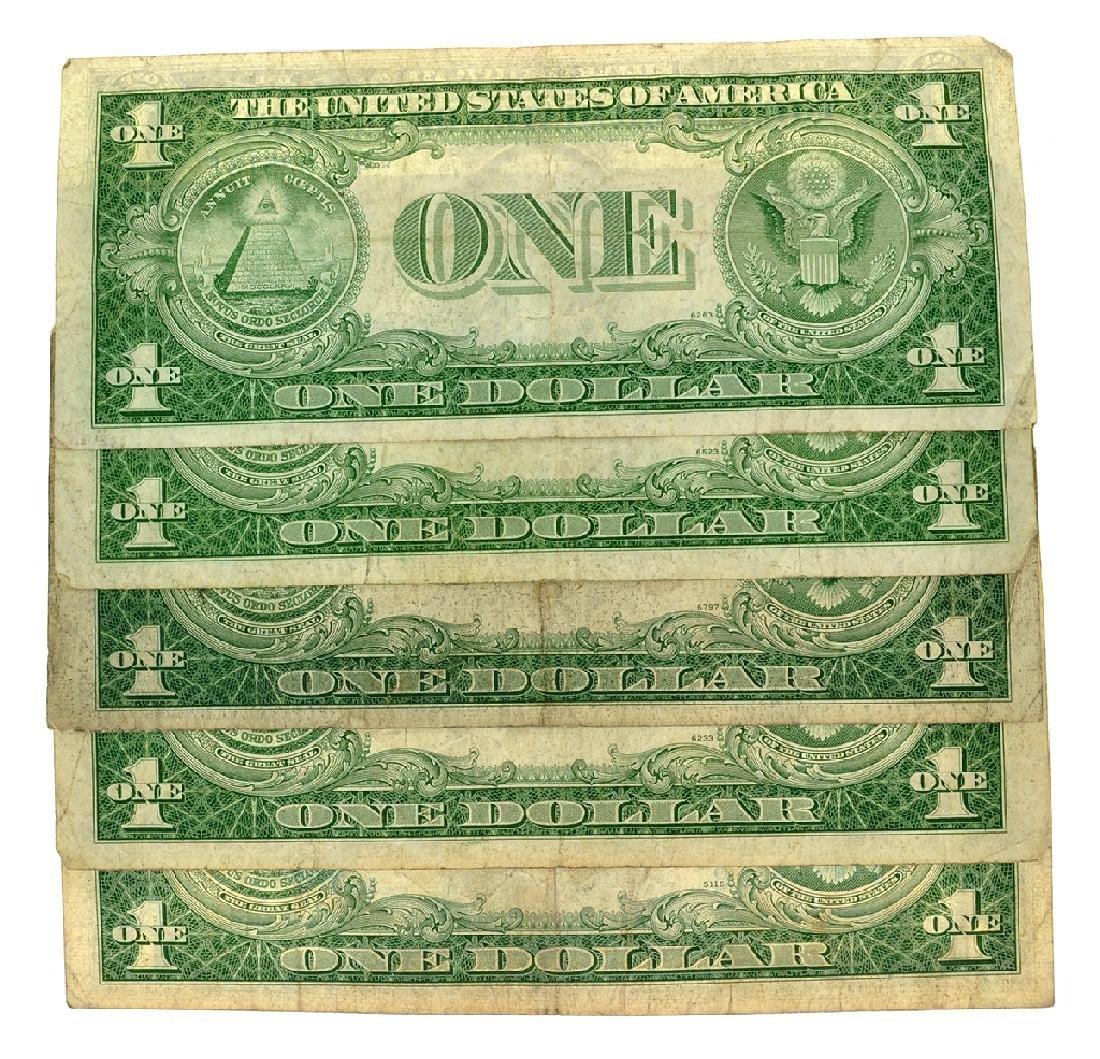 Rare (5) 1935 $1 U.S. Silver Certificates - 2