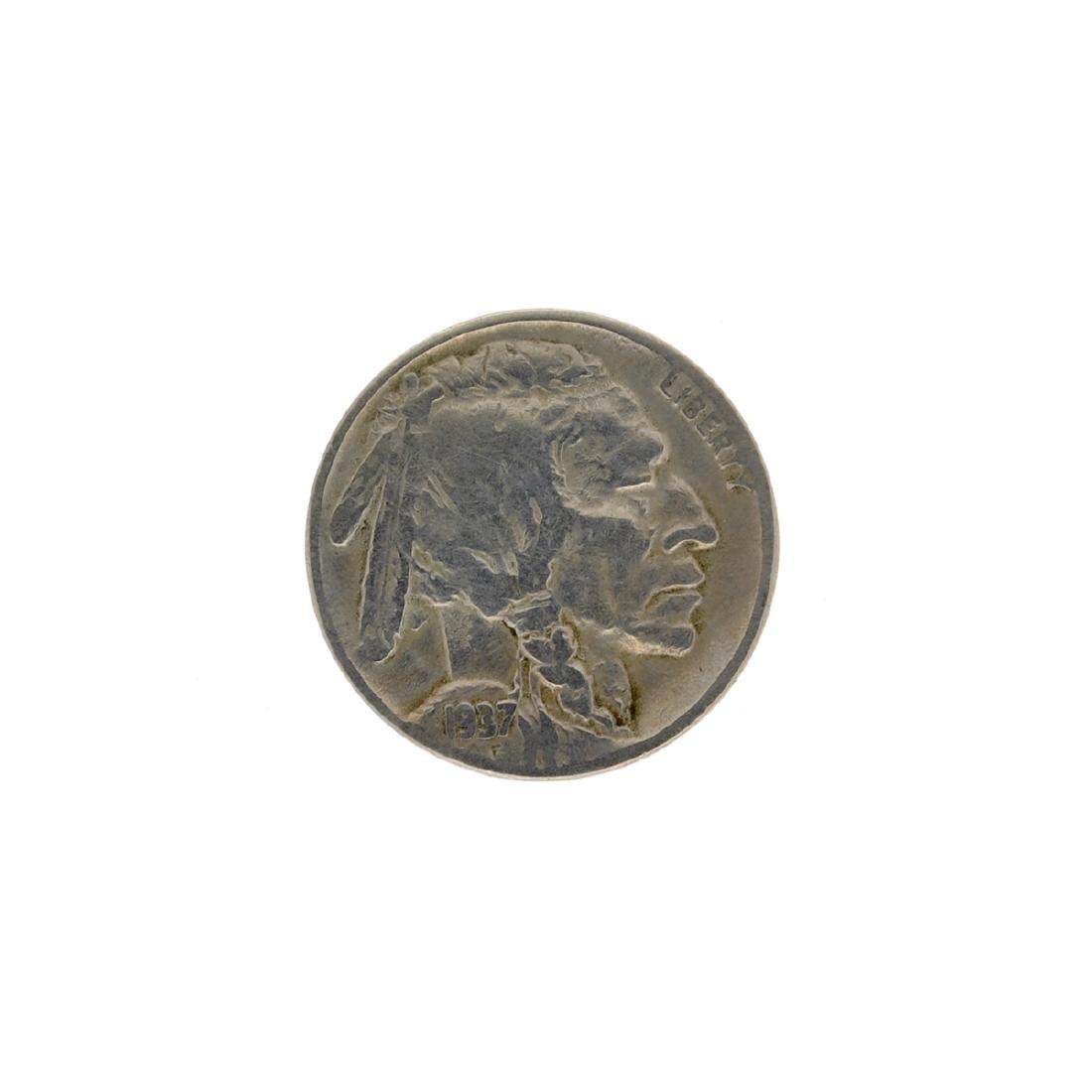 1937-D 3 Legged Buffalo Nickle Key Coin