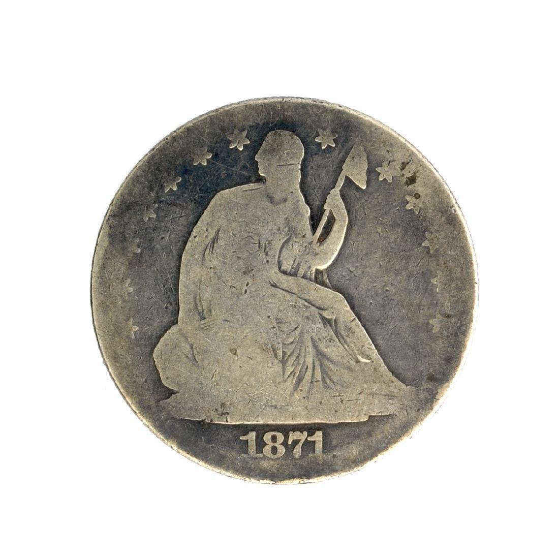 1871 Liberty Seated Half Dollar Coin
