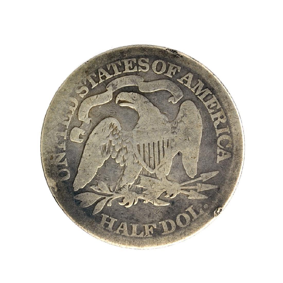 1871 Liberty Seated Half Dollar Coin - 2