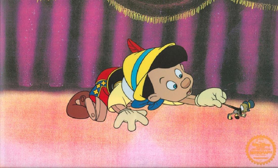 Walt Disney (After) Serigraph, Cel, Pinocchio W/