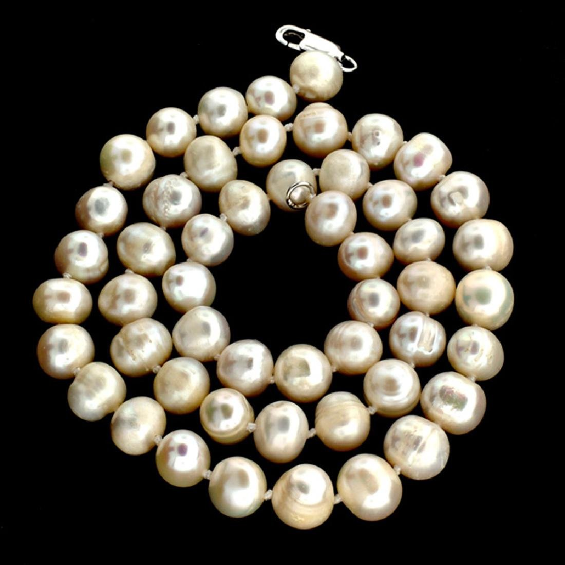 APP: 1.4k 16'' Pearl Strand with Sterling Silver Clasp