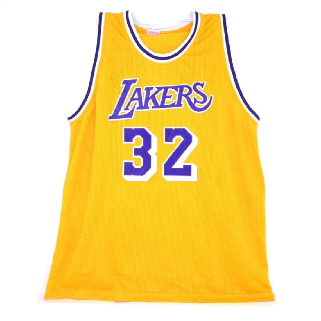 Very Rare Magic Johnson Signed Lakers Jersey