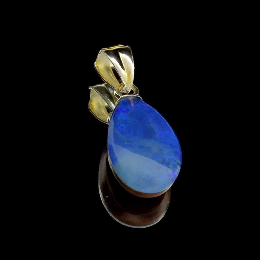 3.15CT Boulder Opal Sterling Silver Pendant