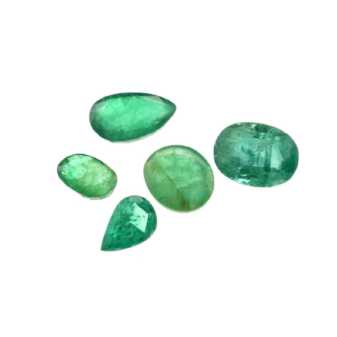 APP: 5k 5.05CT Multi Shape Emerald Parcel