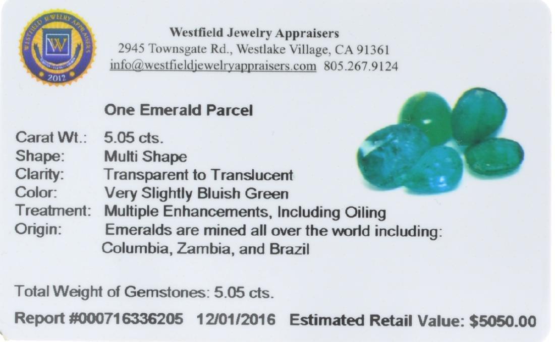 APP: 5k 5.05CT Multi Shape Emerald Parcel - 2