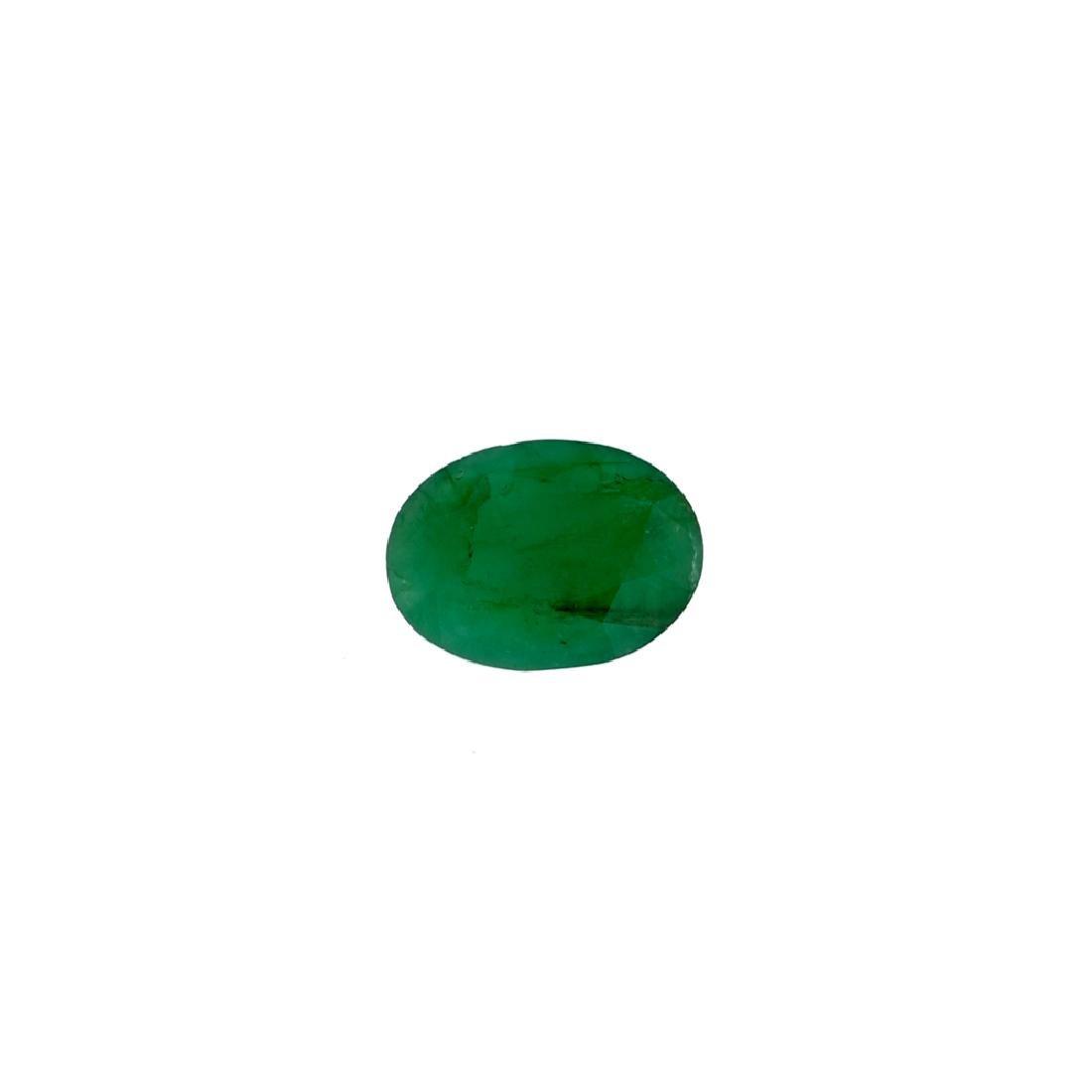 APP: 3.8k 3.84CT Oval Cut Green Emerald Gemstone