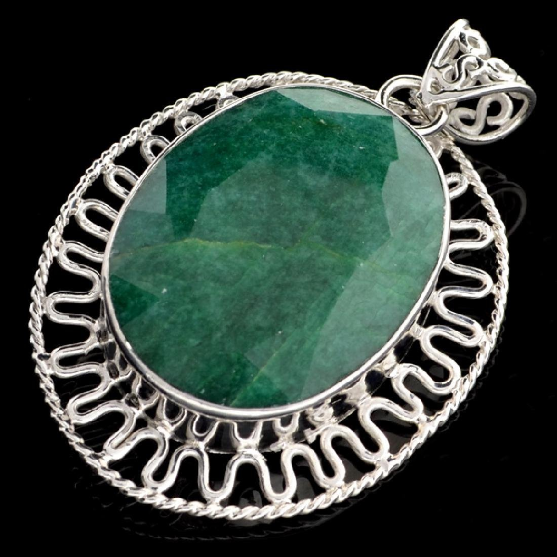 APP: 3.4k 93.52CT Oval Cut Green Beryl and Sterling
