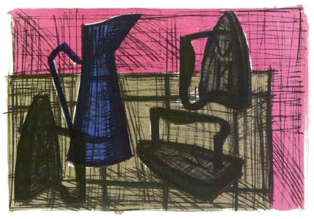 Bernard Buffet Lithograph ''''Irons'''' 12 x 17 Paper
