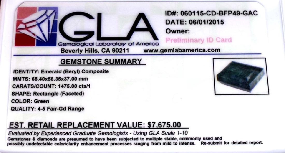 APP: 7.7k 1,475.00CT Rectangle Cut Green Beryl Emerald - 3