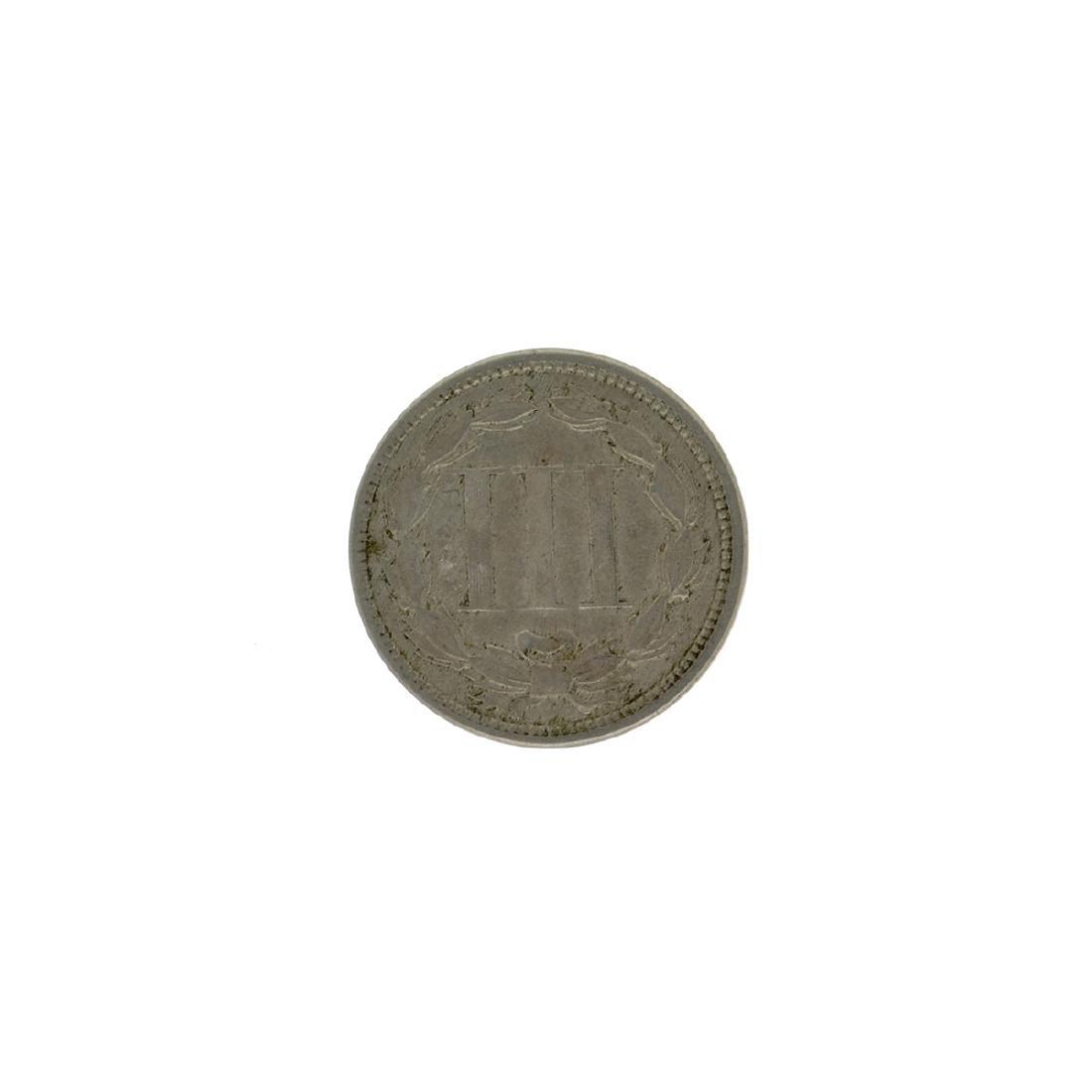 1866 Three Cent Coin - 2