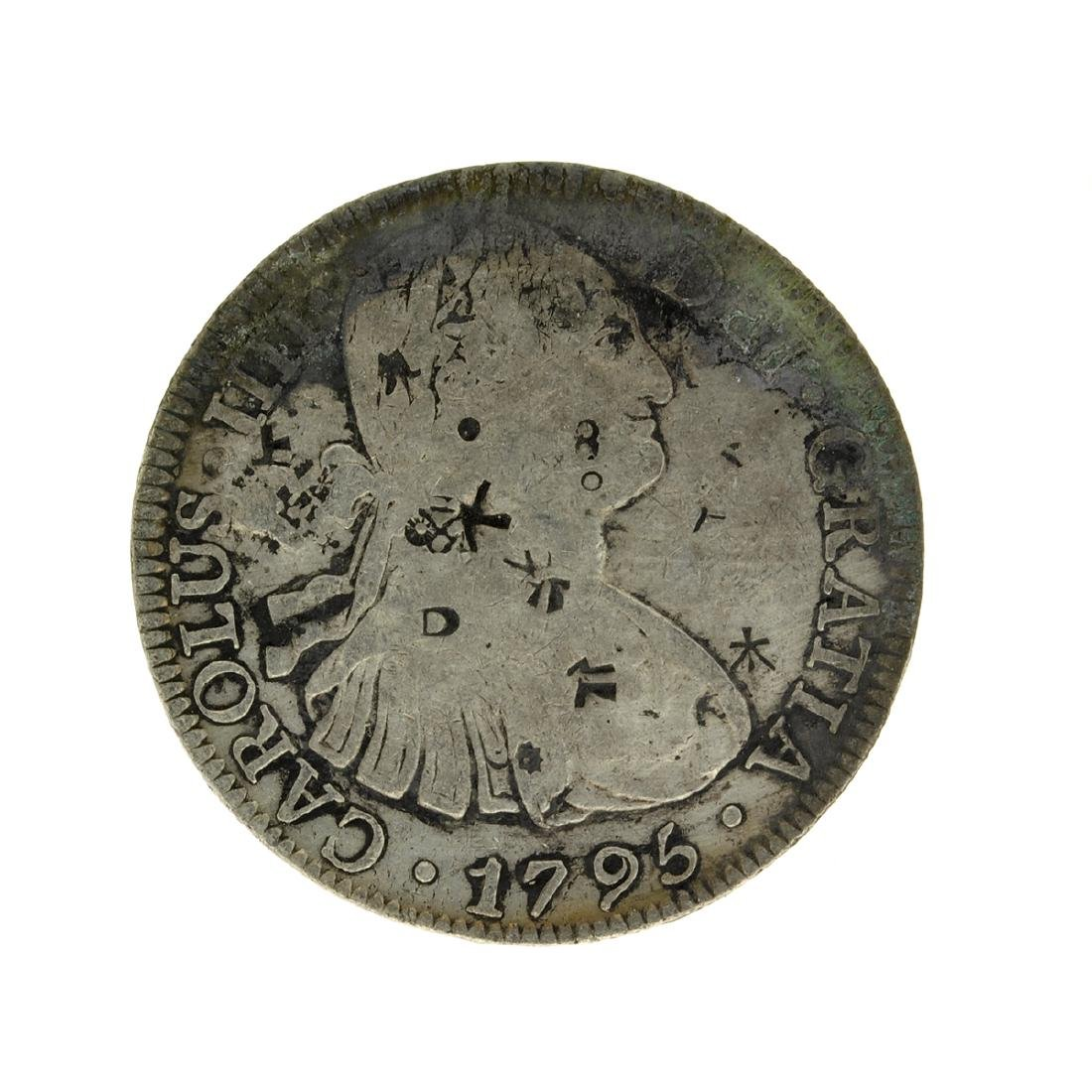 1795 Extremely Rare Eight Reales American First Silver