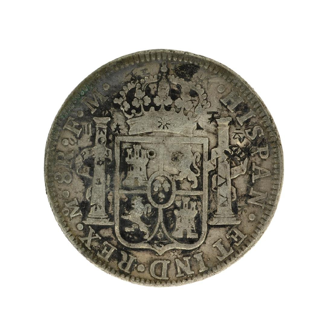 1795 Extremely Rare Eight Reales American First Silver - 2