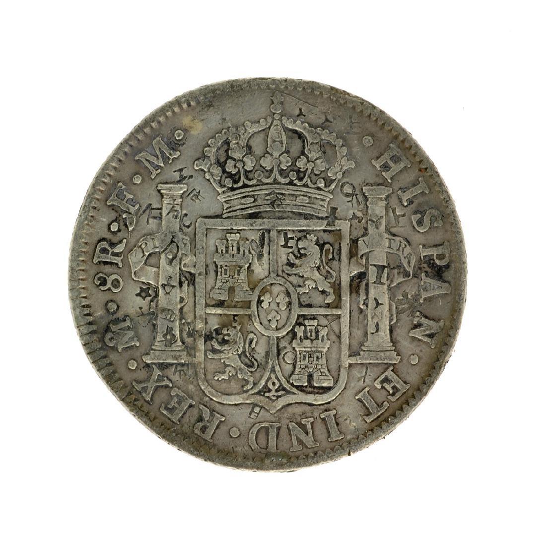 1799 Extremely Rare Eight Reales American First Silver - 2