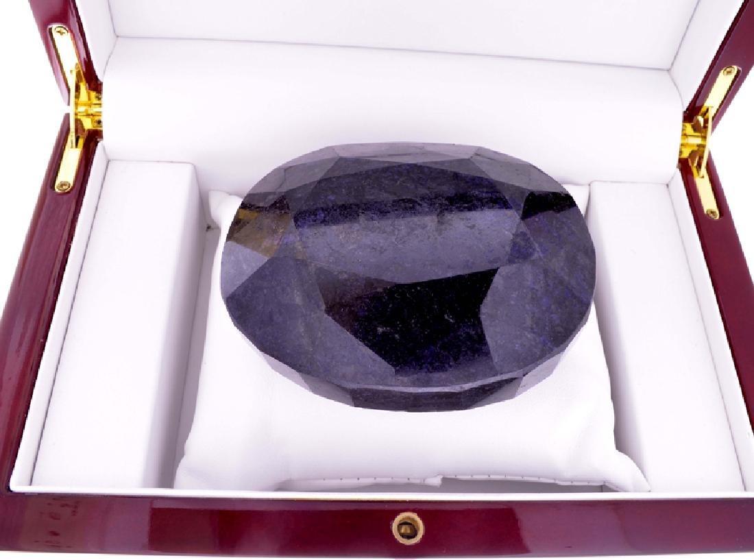 APP: 9k 2250.50CT Oval Cut Blue Sapphire Gemstone