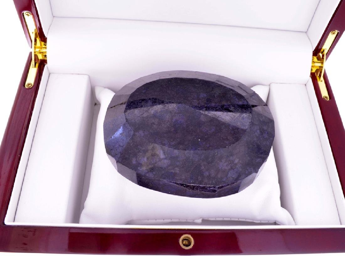 APP: 9k 2250.50CT Oval Cut Blue Sapphire Gemstone - 2