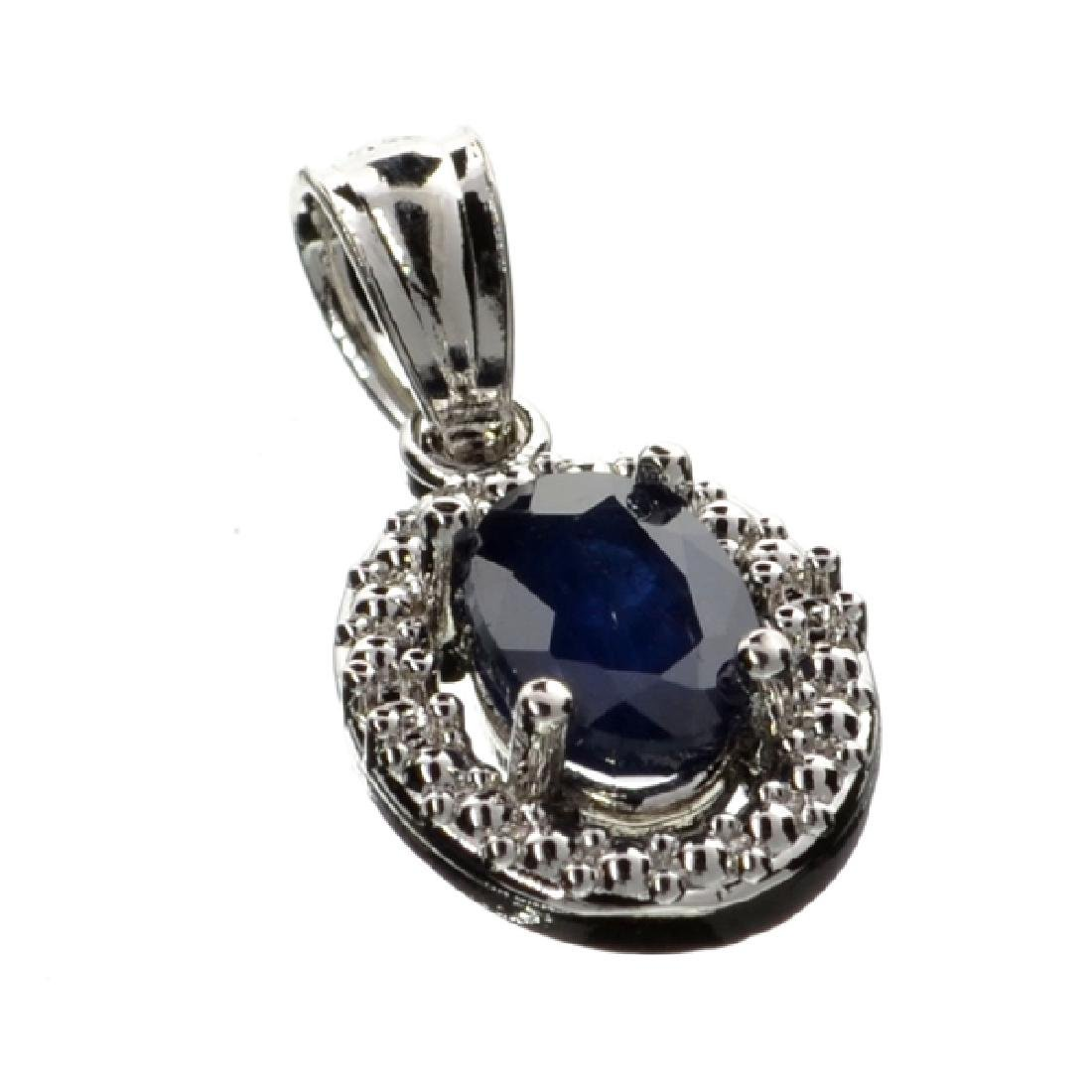 APP: 1.3k 0.75CT Oval Cut Blue Sapphire And Platinum