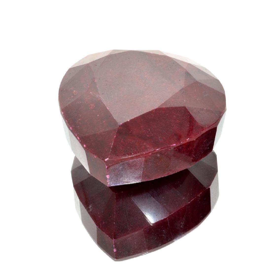 APP: 6.3k 2,537.25CT Pear Cut Red Ruby Gemstone