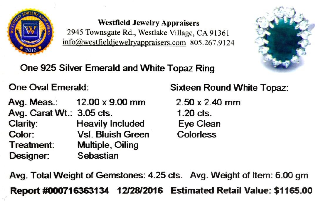 APP: 1.2k Fine Jewelry Designer Sebastian, 4.25CT Green - 2