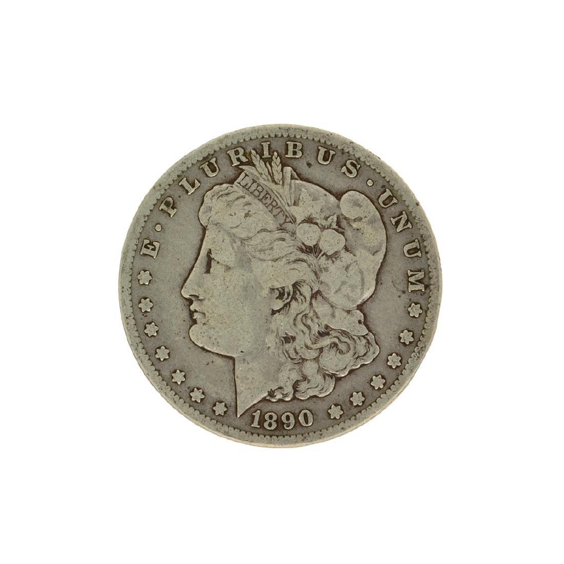 1890-CC Morgan Silver Dollar Coin