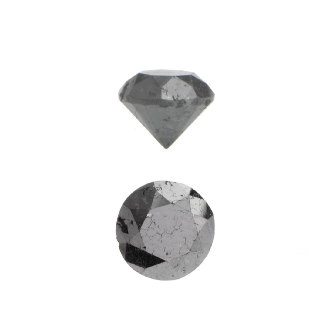 APP: 1.3k 1.70CT Round Cut Black Diamond Gemstone