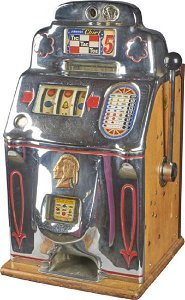 5 ¢ Jennings Chief Rare Restpred Tic-Tac-Toe Slot