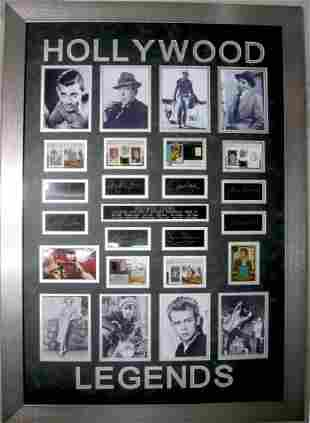Hollywood Legends Swatch of Clothing Plate Signatures
