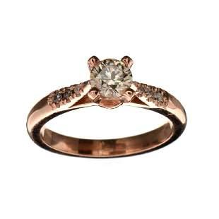 APP 75k Fine Jewelry 14 kt Rose Gold 069CT Round