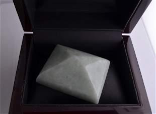APP 94k 85700CT Rectangle Cut Green Jade Gemstone