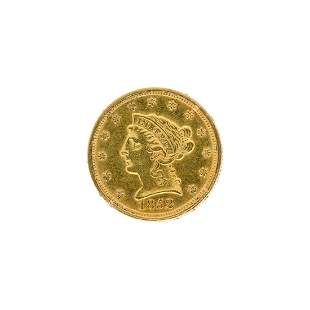 1852 250 US Liberty Head Gold Coin