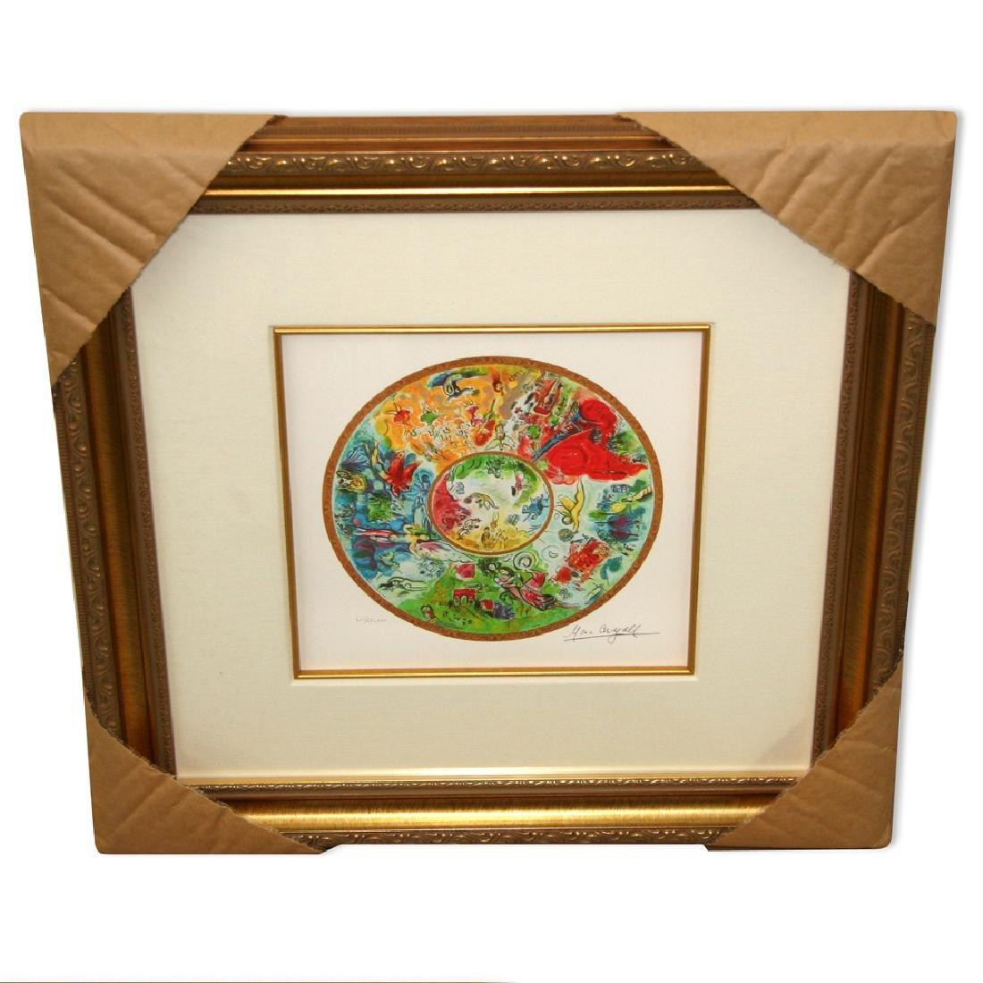 Chagall (After) 'Paris Opera Ceiling' Framed Giclee-Ltd